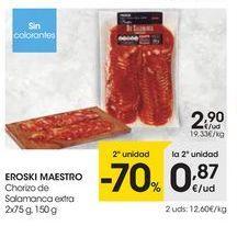 Oferta de Chorizo eroski por 2,9€
