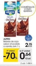 Oferta de Bebida de soja Alpro por 2,15€