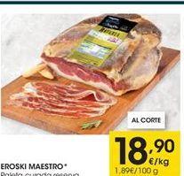 Oferta de Paleta curada eroski por 18,9€