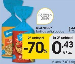 Oferta de Tortitas de arroz Bicentury por 1,44€