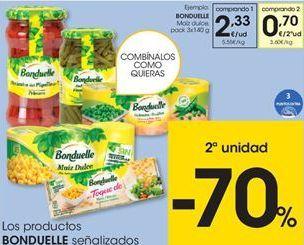 Oferta de Guisantes Bonduelle por 2,33€