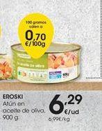 Oferta de Atún en aceite de oliva eroski por 6,29€