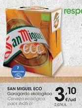 Oferta de Cerveza San Miguel por 3,1€