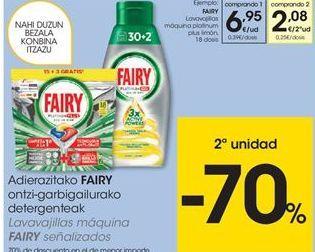 Oferta de Detergente lavavajillas Fairy por 6,95€