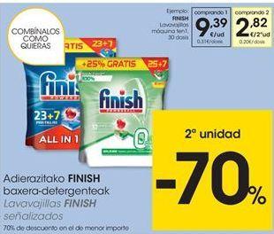 Oferta de Detergente en cápsulas Finish por 9,39€