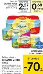 Oferta de Maíz dulce Gigante Verde por 2,27€
