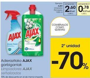 Oferta de Limpiadores Ajax por 2,6€