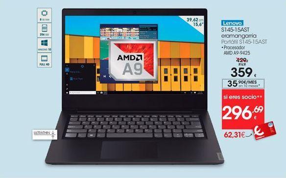 Oferta de Ordenador portátil Lenovo por 359€