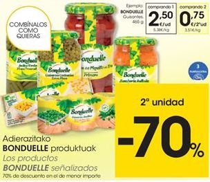 Oferta de Conservas Bonduelle por 2,5€