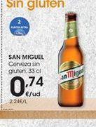 Oferta de Cerveza San Miguel por 0,74€