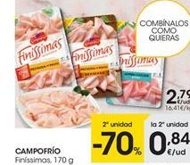 Oferta de Loncheados Campofrío por 2,79€