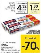Oferta de Conservas de pescado Isabel por 4,32€