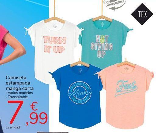 Oferta de Camiseta estampada manga corta por 7,99€