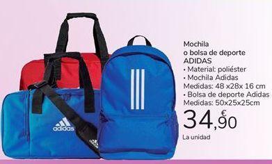 Oferta de Mochila o bolsa de deporte Adidas por 34,9€