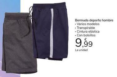 Oferta de Bermuda deporte hombre por 9,99€