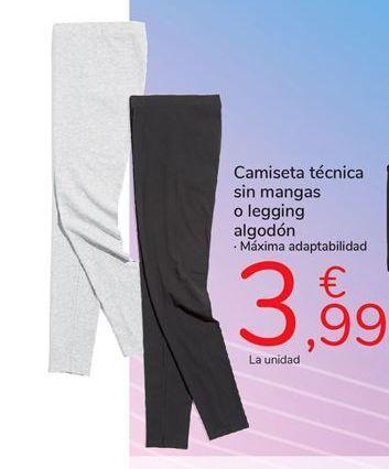 Oferta de Camiseta técnica sin mangas o legging algodón por 3,99€