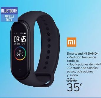 Oferta de Smartband MI BAND4 por 35€