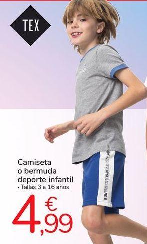 Oferta de Camiseta o bermuda deporte infantil por 4,99€