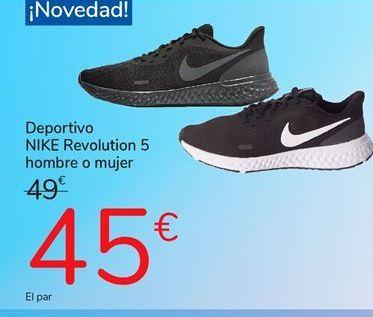Oferta de Deportivo Nike revolution 5 hombre o mujer por 45€