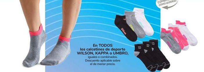 Oferta de En TODOS los calcetines de deporte WILSON, KAPPA o UMBRO por