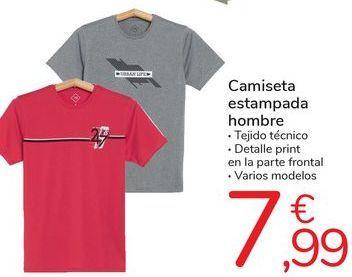 Oferta de Camiseta estampada hombre  por 7,99€