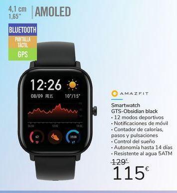 Oferta de Smartwatch gts-Obsidian Black  por 115€