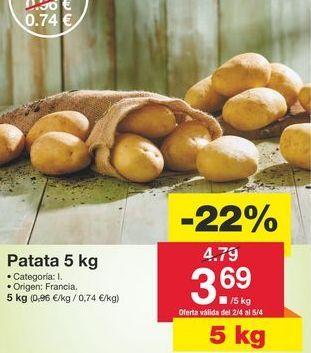 Oferta de Patatas por 4,79€