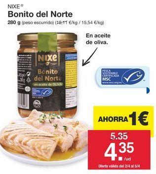 Oferta de Bonito del norte nixe por 4,35€