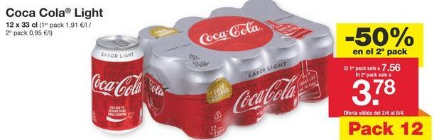 Oferta de Coca-Cola Light por 7,56€