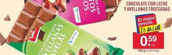 Oferta de Chocolate con avellanas por 0,59€