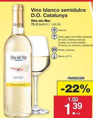 Oferta de Vino blanco por 1,8€