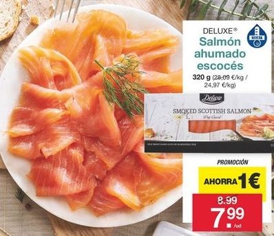 Oferta de Salmón ahumado Deluxe por 7,99€
