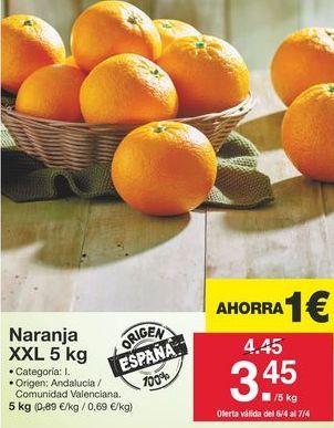 Oferta de Naranjas por 3,45€