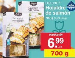 Oferta de Hojaldre de salmón y langostinos Deluxe por 6,99€