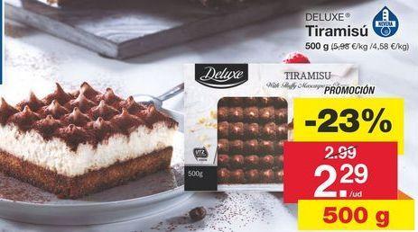 Oferta de Tiramisú Deluxe por 2,99€