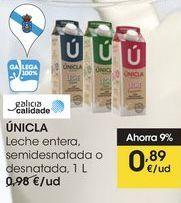 Oferta de Leche entera Unicla por 0,89€