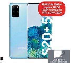 Oferta de Smartphone libre GALAXY S20+5G por 1109€