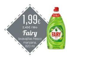 Oferta de Detergente lavavajillas Fairy por 1,99€
