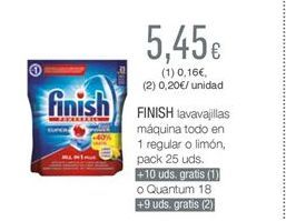 Oferta de Detergente lavavajillas Finish por 5,45€