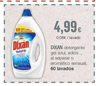 Oferta de Detergente gel Dixan por 4,99€