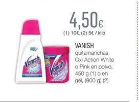 Oferta de Quitamanchas Vanish por 4,5€