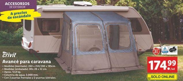 Oferta de Camping Crivit por 174,99€