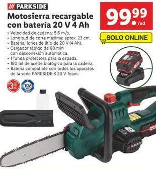 Oferta de Motosierra Parkside por 99,99€
