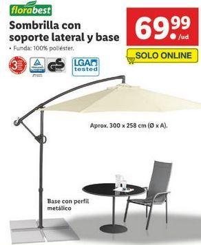 Oferta de Sombrilla Florabest por 69,99€