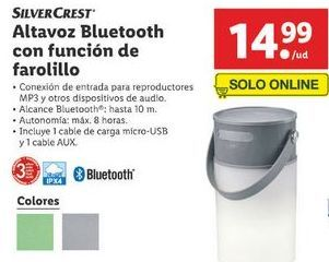 Oferta de Altavoces bluetooth SilverCrest por 14,99€