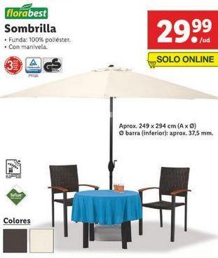 Oferta de Sombrilla por 29,99€