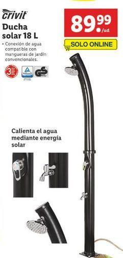 Oferta de Ducha solar para piscina Crivit por 89,99€