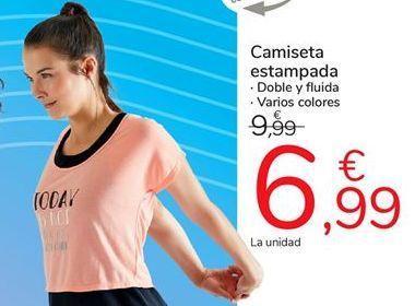 Oferta de Camiseta  estampada TEX por 6,99€