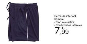 Oferta de Bermuda interlok hombre TEX por 7,99€