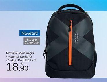 Oferta de Motxilla Sport negra por 18,9€